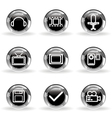 Glossy icon set 30 vector image vector image