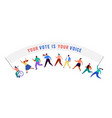 group people walking with flags to elections vector image vector image