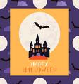 Halloween card2 vector image vector image