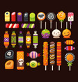 halloween sweets 3 vector image vector image