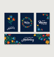 happy mother day german flower greeting card set vector image vector image
