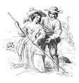 haymaking is a painting by william mulready vector image vector image