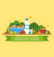 healthy food vegan food menu for restaurant and vector image