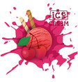 ice cream cherry ball fruit dessert choose your vector image vector image
