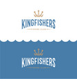 logo king fisher fishing sport club vector image
