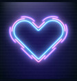 love neon valentines day heart concept heart vector image vector image