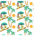 man and woman on summer vacation seaside vector image