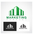 marketing symbol vector image vector image