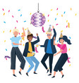 men and women in celebration design vector image
