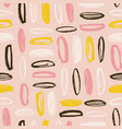 modern seamless pattern with rough oval brush vector image vector image