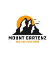 mount cartenz logo in papua vector image vector image