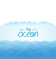 Nature background - blue ocean and blue cloudy sky vector image vector image