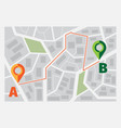 navigator for road ui template route with points vector image