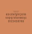 original hollow sans serif font vector image vector image
