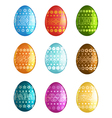 Painted Easter eggs on white background vector image vector image