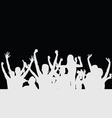 people party silhouette vector image vector image