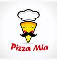 pizza mia logo vector image