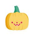 pumpkin icon trick or treat happy halloween vector image