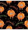 Pumpkins Happy halloween seamless patterns set vector image vector image