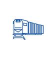 railway logisticstraincargo line icon concept vector image vector image