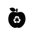 recycle icon on apple vector image vector image