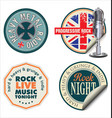 rock music sticker vector image vector image