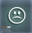 Sad face Sadness depression icon symbol on the vector image