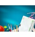 School office supplies EPS 10 vector image vector image