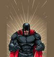 screaming superhero background vector image vector image