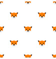 seamless pattern with cute fox for design web vector image vector image