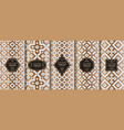set of golden luxury templates abstract geometric vector image vector image