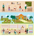 Set of Isolated school vector image