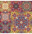 set seamless colorful patterns in oriental vector image