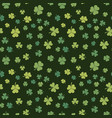shamrock seamless pattern patricks day vector image