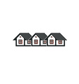 Simple cottages country houses for use in graphic vector image vector image