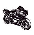 Sport motorbike vector image