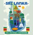 sri lanka travel poster vector image vector image