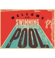 Swimming typographic vintage grunge style poster vector image