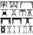 table desk home furniture design a set of unique vector image vector image