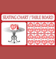 table number card collection seating chart vector image vector image