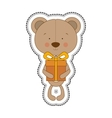 teddy bear character icon image vector image
