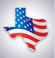 texas tx state america flag map vector image vector image
