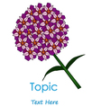 The of Purplr cycle flower vector image vector image