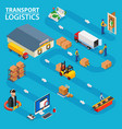 transport logistics shows the order processing vector image vector image
