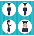 university student cartoon vector image vector image
