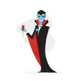 vampire - modern cartoon people characters vector image