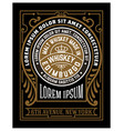 vintage label for packing western style vector image vector image