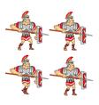 walking roman soldier sprite vector image vector image
