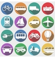 Vehicles with Long Shadow Transport vector image