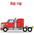 Big rig truck of vector image